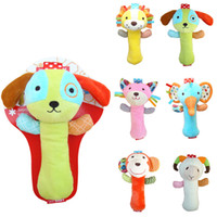 baby mobile patterns - 6 Patterns Animal Model New Infant Baby Rattles Soft Cartoon Cute Baby Plush Stuffed Toys Children Educational Handbells Mobiles