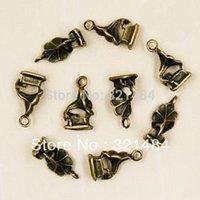 antiques phonographs - x17mm Phonograph Life Tools Vintage Antique Bronze Metal Zinc Alloy Jewelry DIY Pendant Charms
