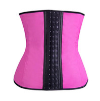 Cheap 2015 Sport Latex Waist Cincher Corset with Straps Sexy Steel Boned Ann Chery Latex Waist Trainer Vest Rubber Body Shaper Bustier XS-3XL