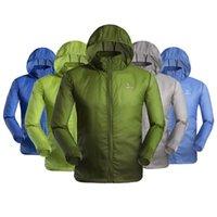 Men Outdoor séchage rapide anti-UV étanche Protecteur Vent pluie Ultraléger ultra-mince veste de peau Cycling Jersey