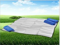 Wholesale Foil Camping Mat Thickening Widening Sided Moisture Pad Picnic Mat Polyester Cloth Outdoor Mats Foil Camping Mat