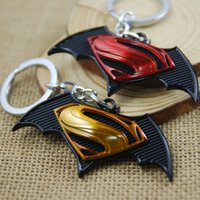 batman keyring - Movie Series Keychain Superman Chain Vs Batman Key Chain Chaveiro Pendant Keyring F