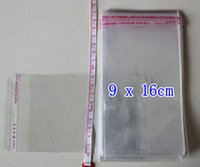 achat en gros de sacs poly 25-Sac autocollant de joint d'étanchéité de sac d'emballage d'opp clair Sac de paquet en plastique, 3 * 15,9.5 * 16,10 * 15,11 * 17,12 * 18,14 * 21,16 * 25