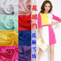 Wholesale High grade frosted like snow spins Dress clothes Spring flowers yao crepe fabrics Not through the light chiffon
