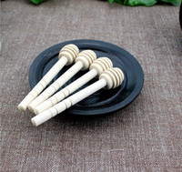Wholesale 200pcs New Arrive MINI Wooden Honey Dippers Wedding Favors Honey Dipper spoon Gift