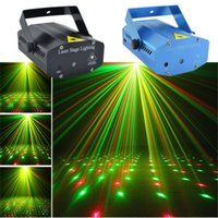 Wholesale Hot New Blue Mini Portable RG Meteor Laser Projector Lights DJ Bars KTV Home Xmas Party Dsico Show LED Stage Lighting EP O100U