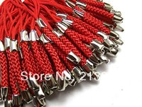 Wholesale Diy mobile phone red lanyard Accessories Charms pendant String Key Chain Pendant Jewelry Connectors