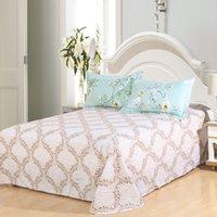 bedding set deals - Super Deal Cotton Quality Cheap Bedding Set Queen American Country Style Blue Floral Family Duvet Set