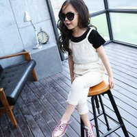korea kids style - Kid Girls Candy Color Cotton Suspender Thouser Stylish Soft Pants Korea Style Cute Trousers