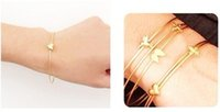 Wholesale Free Best Charm EU style gold love heart shaped bracelets bangle women bangle with mini heart