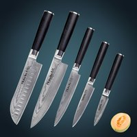 chefs knives set - HUIWILL Japanese VG10 Damascus steel professional chef kitchen knife global knife stainless steel set of Knife