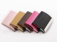 Wholesale 2015 New Colors Fringe Business Card Holders Anti Slip Stripe Credit Bank ID Card Case Holder Business Name Case LJJH245