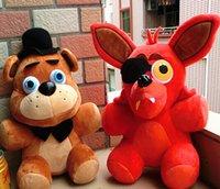 Wholesale 25cm Five Nights At Freddy s FNAF Freddy Fazbear Bear Foxy Bonnie Chica Plush Toys Kid Children Dolls Christmas Gift