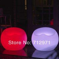 Wholesale 55cm LED lounge leisure chair sofa colors changed mood garden sofa luminous sofa piece