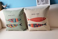 american made sofas - Custom Made Multi Fish Multi Happiness Pillow Home Decor American Pastoral Sofa Cushion Cover Creative Pillow Case