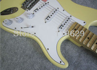 malmsteen - Scalloped Fingerboard Dimarzio Pickups Yngwie Malmsteen Guitar Big Head ST Electric Guitar Vintage White
