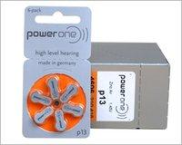 hearing aid batteries - 60PCS Box PowerOne PR48 P13 A13 Zinc air button battery for Hearing aid