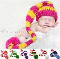 Cheap Free shipping Baby Cap Hats Kids Caps Boys Girls Cap long tails Crochet Hats Children Caps Children cap WD1177