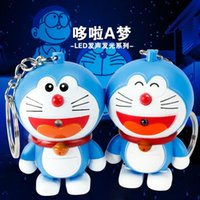 Wholesale Companion I peer to bite when the cat LED sound luminous key button small pendant birthday gift factory direct BS
