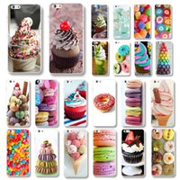apple desserts - phone case for iphone new colorful dessert ice cream Macarons styles hard cover high quality WHD1478