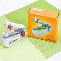 Wholesale Hot Selling New creative household Mini Handheld Portable Clothes Fabrics Sewing Machine