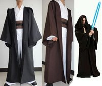 Unisex adult jedi costume - Star Wars Cosplay Adult Unisex Jedi Sith Robes Darth Vader Hooded Cape Cloak CostumeH alloween Gift High Quality