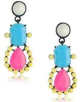 beach earings - NEW crystal drop earrings fashion beach earings Fluorescent color stud multicolor drop Earrings for women E0035