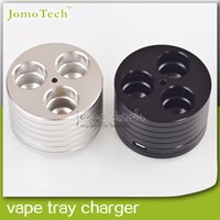 Wholesale Vape Tray Charger EGO Stand eGo Holder E Cig Metal Base eGo Ecig Vape Tray Charger Triple Holder Stand for E Cigarette Accessory
