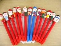 Wholesale Christmas kid cartoon pen Christmas Snowman Santa Claus child ballpoint pen children day gift christmas gift Christmas decorations