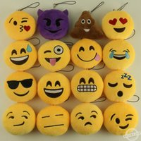 Wholesale Styles Emoji Smiley QQ Expression Pendants Toys Dolls Soft Stuffed Plush bag pendant cm