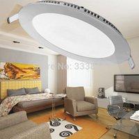 Wholesale Whole Sales LED Panel Lights W High BrightnessWhite Warm White Round And Square Shape order lt no track