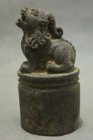 brass statue - New CM Chinese Bronze Collect Lion Foo Fu Dog Beast Kylin Statue Seal Stamp Signet