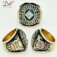 2015 nueva alta calidad de 1955 del Campeonato Dodgers de Brooklyn platearon los anillos de la Serie Mundial del anillo de oro de hombre colección de joyas Daihe Marca