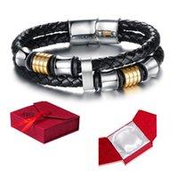 Wholesale 2016 New outlet Fashion men s geniue leather magnet buckle bracelet on sale