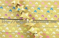Wholesale heart peach Night Lights Luminous origami paper double color lucky star paper Stripe diy handmade folding paper