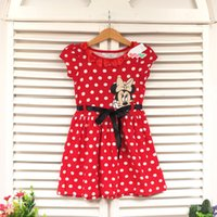 Cheap Kids Baby Girls Skirt Dress Cute Minnie Mickey Mouse Toddler Clothes Age 1-5Y