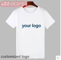 advertising branding - Brand quality white blank t shirt men women custom shirt short sleeve basic tshirt customized logo advertising print tees tops