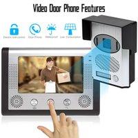 Wholesale LCD Monitor Mega Pixels video Door Phone Doorbell sonnette maison Security Intercom System Night Vision Outdoor Rainproof