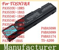 Wholesale New laptop battery For TOSHIBA PA3533U BRS PA3533U BAS PA3534U BAS PA3534U BRS PA3535U BAS PA3535U BRS PABAS098