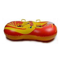 inflatable snow sledge - Hot selling Double size ski circle Inflatable Snow Tube Sledge Twist Snow Ring Sleds Skiing Tube Boat Shaped