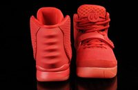 Cheap Free Shipping Kanye West Basketball Yeezy II 2 Glow In Dark Red October Men's Basketball Sport Footwear Trainers Shoes size eur 40-47