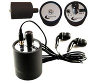 audio bugging devices - Wall Audio Wiretap Listening Device Cylinder listening Amplifier On Wall Door Eavesdropping spy audio bug black in retail box