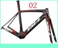 bh - 2014 Newest BH Carbon Fiber Frames UD Wave Black Red Decals Accept Customize G6 Road Bike Frameset Including Fork Clamp Seatpost BSA BB30
