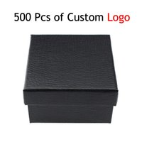 Wholesale New Design Black Fashion Jewlery Box For Gifts Fashion Square Luxury Brand Watch Box Support Logo Custom Fine Jewelry Boxes