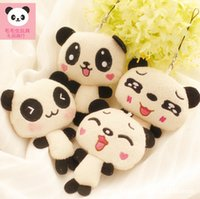 small stuffed animals - New arrival Whale Cute Plush Panda Stuffed Animal Toy Love Present Small pendant of bag Plush Keychain gift for girls