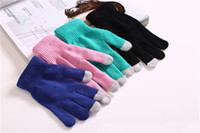 Wholesale Magic Touch Screen Gloves Smartphone Texting Stretch Adult One Size Winter Knit
