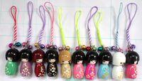 Wholesale High Quality Japanese Oriental Kokeshi Doll Handbag Charm