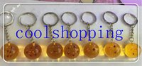 Wholesale DHL Freeshipping sets cm Dragon Ball Z New In Bag Stars Crystal Balls Keychain Pendant star Complete set