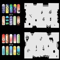 airbrush art for sale - Hot Sales Sheets Including Different Nail Art Designs For Airbrush Nail Art STENCIL Template Set No