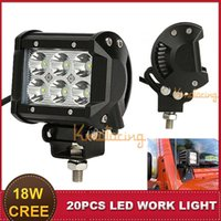 Cheap 4 Inch CREE 18W LED Work Light Bar Spot Beam Motorcycle Auto SUV ATV AWD 4X4 Trailer Truck UTE Boat Headlight Bumper Fog Lamp